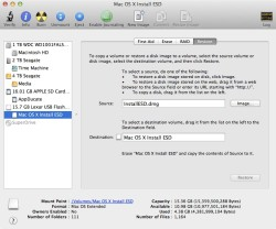 restore disk image usb boot run mac os x