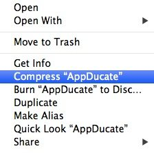 compress zip files mac into a rar files