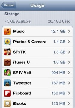 iphone ios six not enough space update memory iOS 6 iOS 6 space requirements